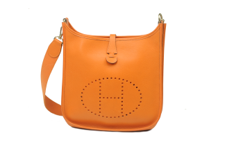 HERMÈS EVELYNE PM EPSOM ORANGE