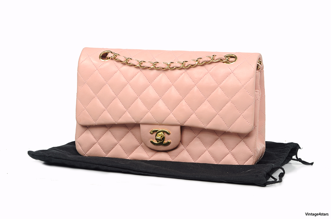 CHANEL DOUBLE FLAP PINK 2