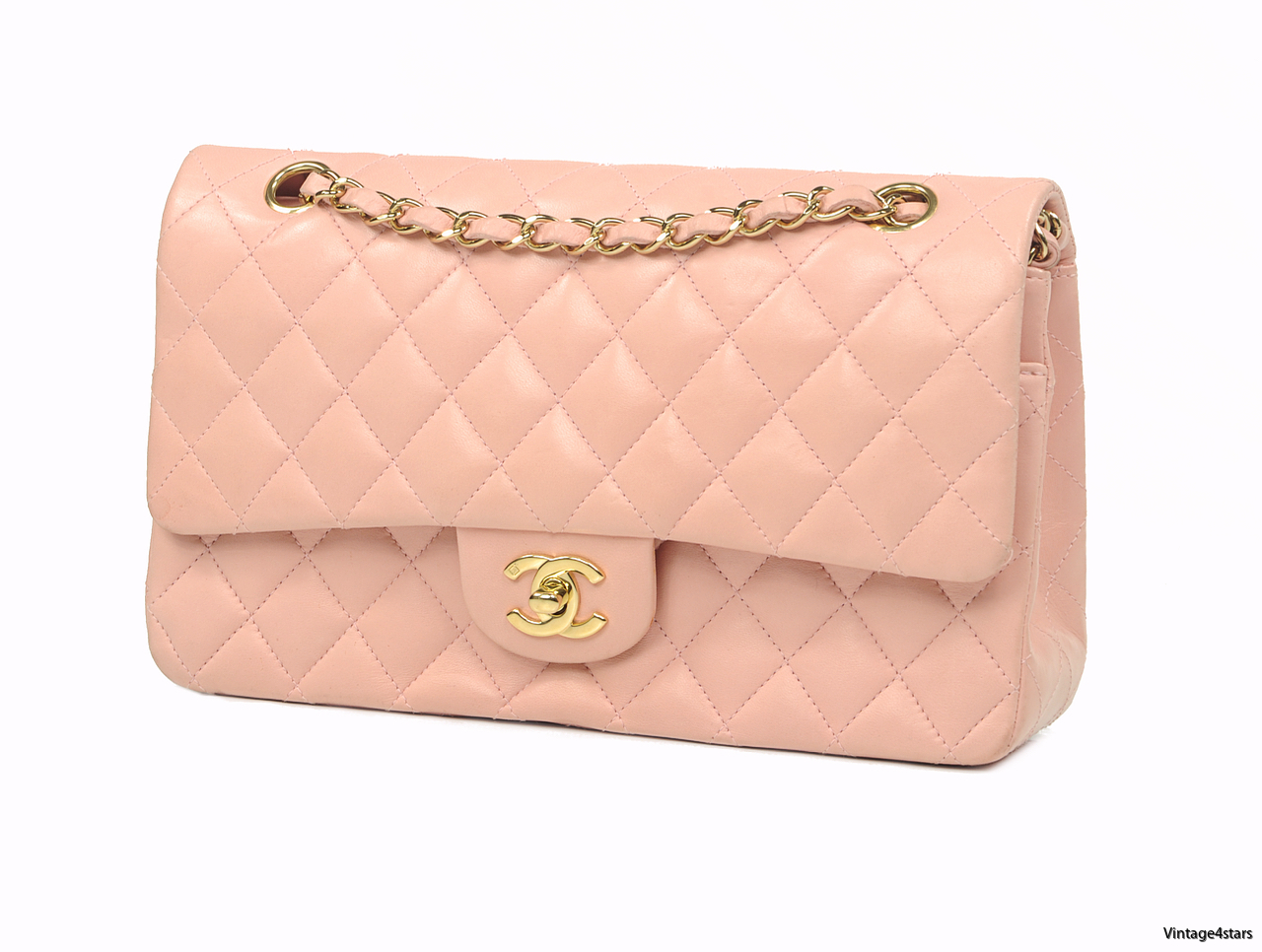 CHANEL DOUBLE FLAP PINK 3