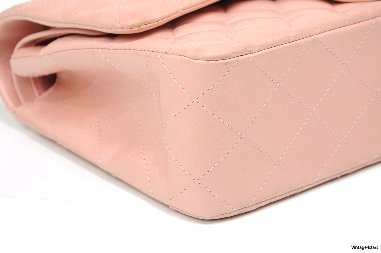 CHANEL DOUBLE FLAP PINK 4-2