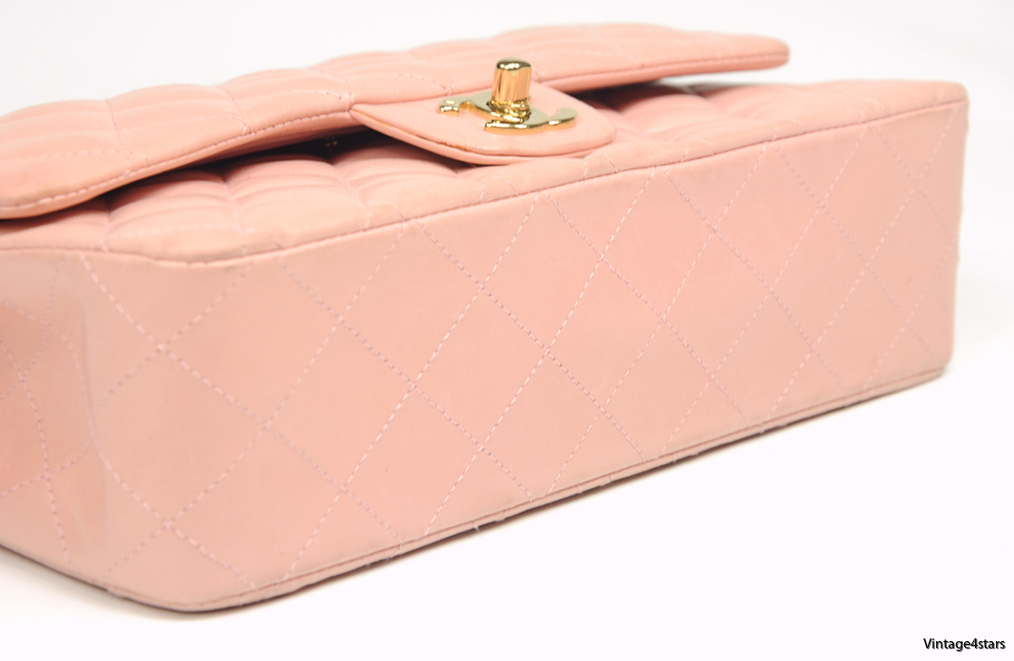 CHANEL DOUBLE FLAP PINK 5