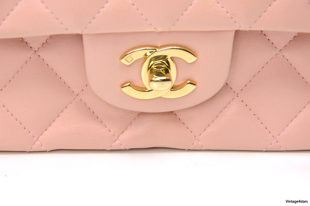 CHANEL DOUBLE FLAP PINK 8