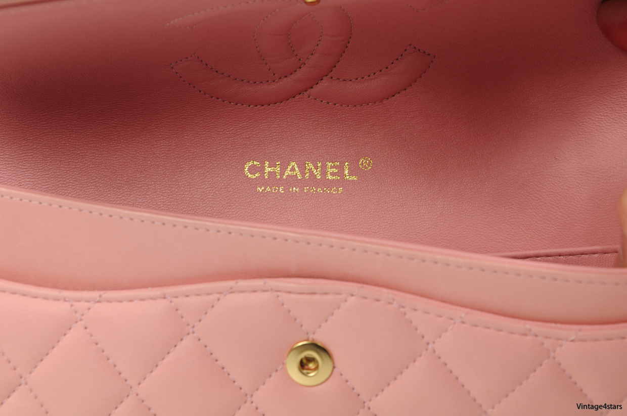 CHANEL DOUBLE FLAP PINK 13