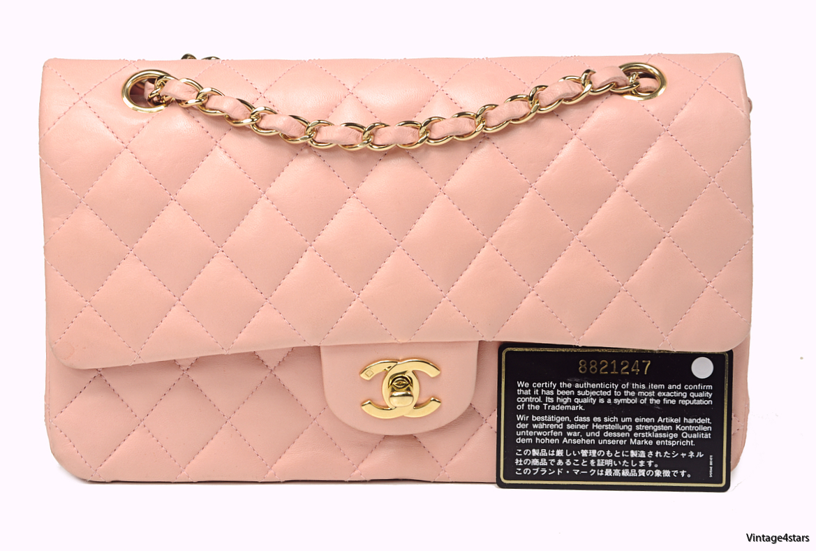 CHANEL DOUBLE FLAP PINK 12