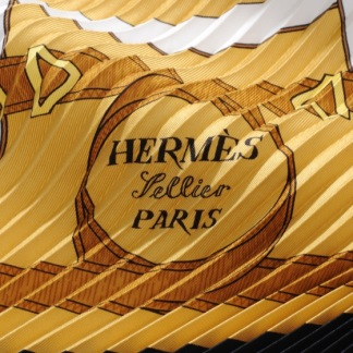 HERMÈS EPERON D'OR SILK BLACK