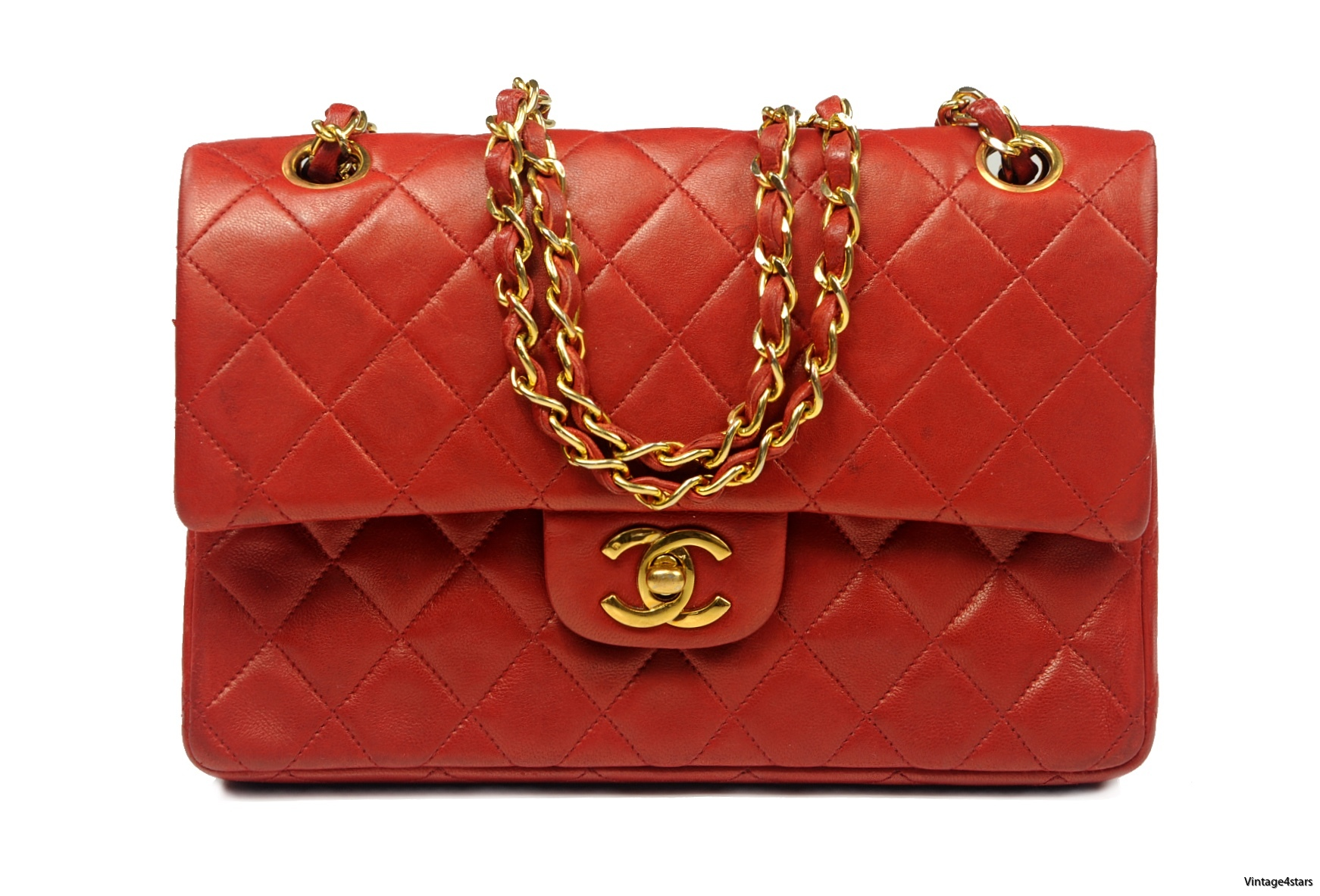 CHANEL Double Flap red 10