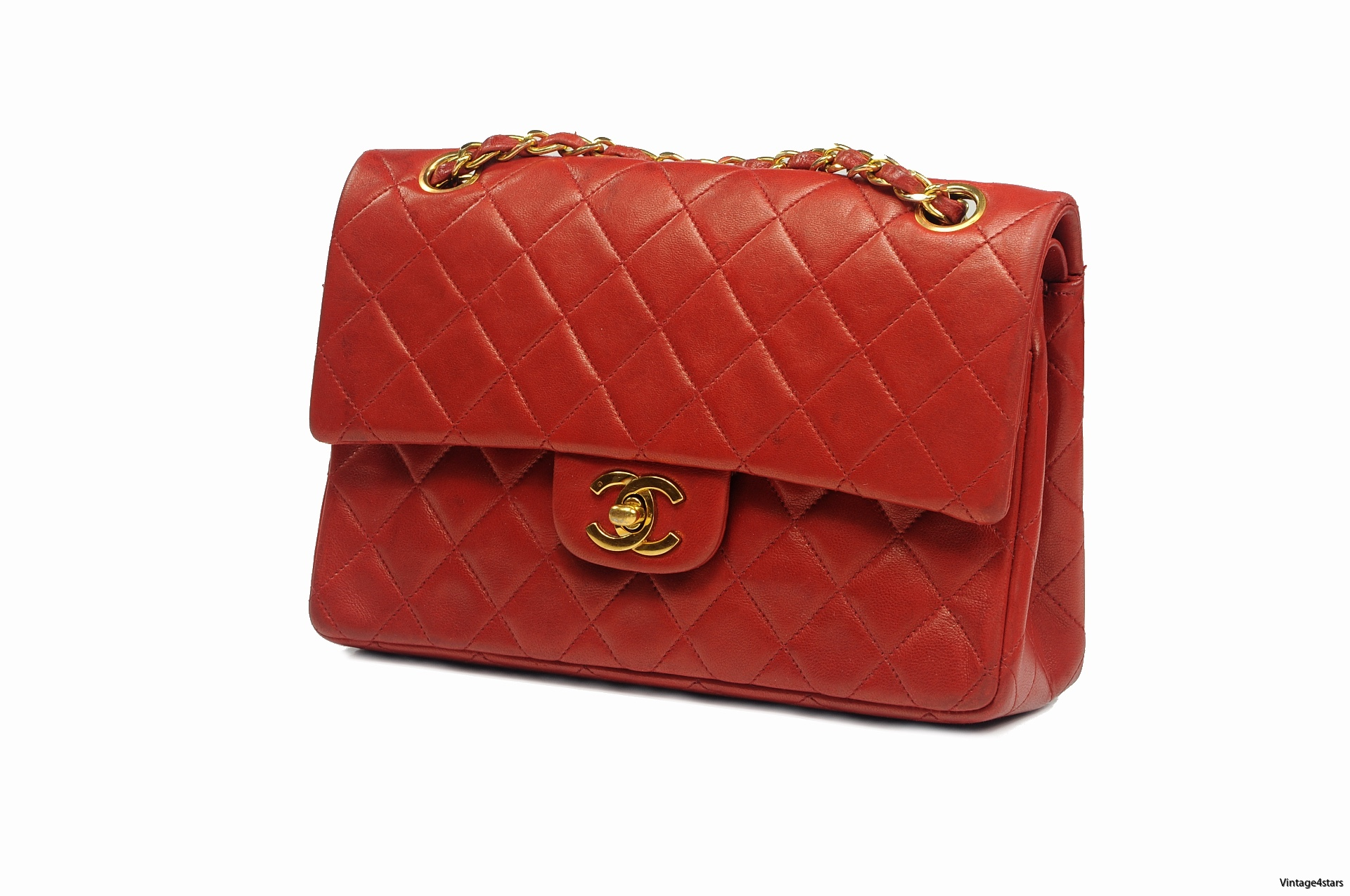 CHANEL Double Flap red 3