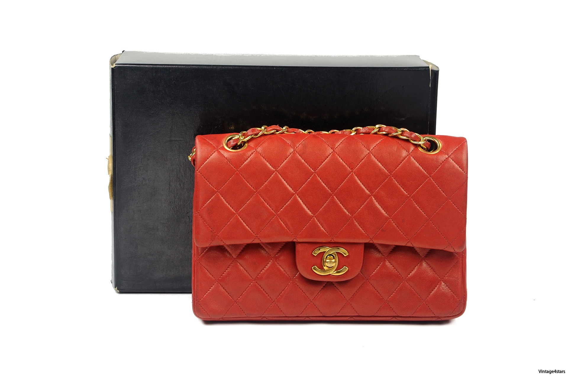 CHANEL Double Flap red 1-2