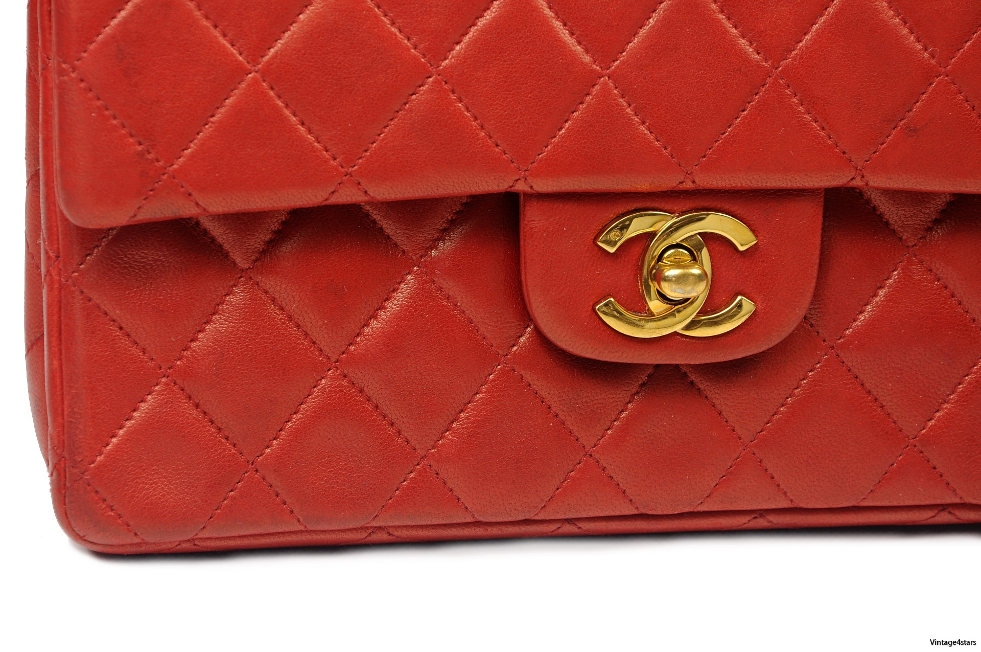 CHANEL Double Flap red 5