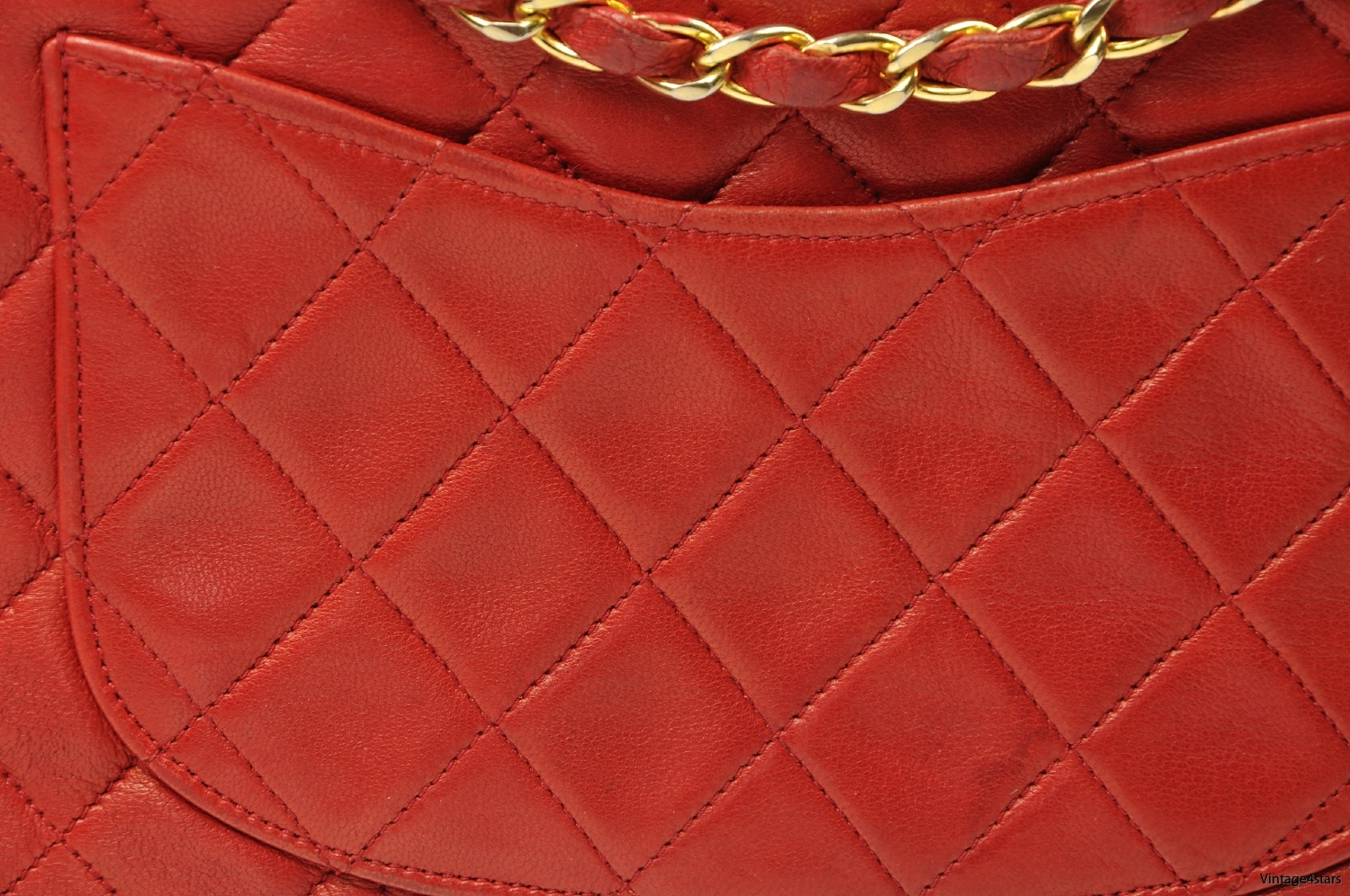 CHANEL Double Flap red 9