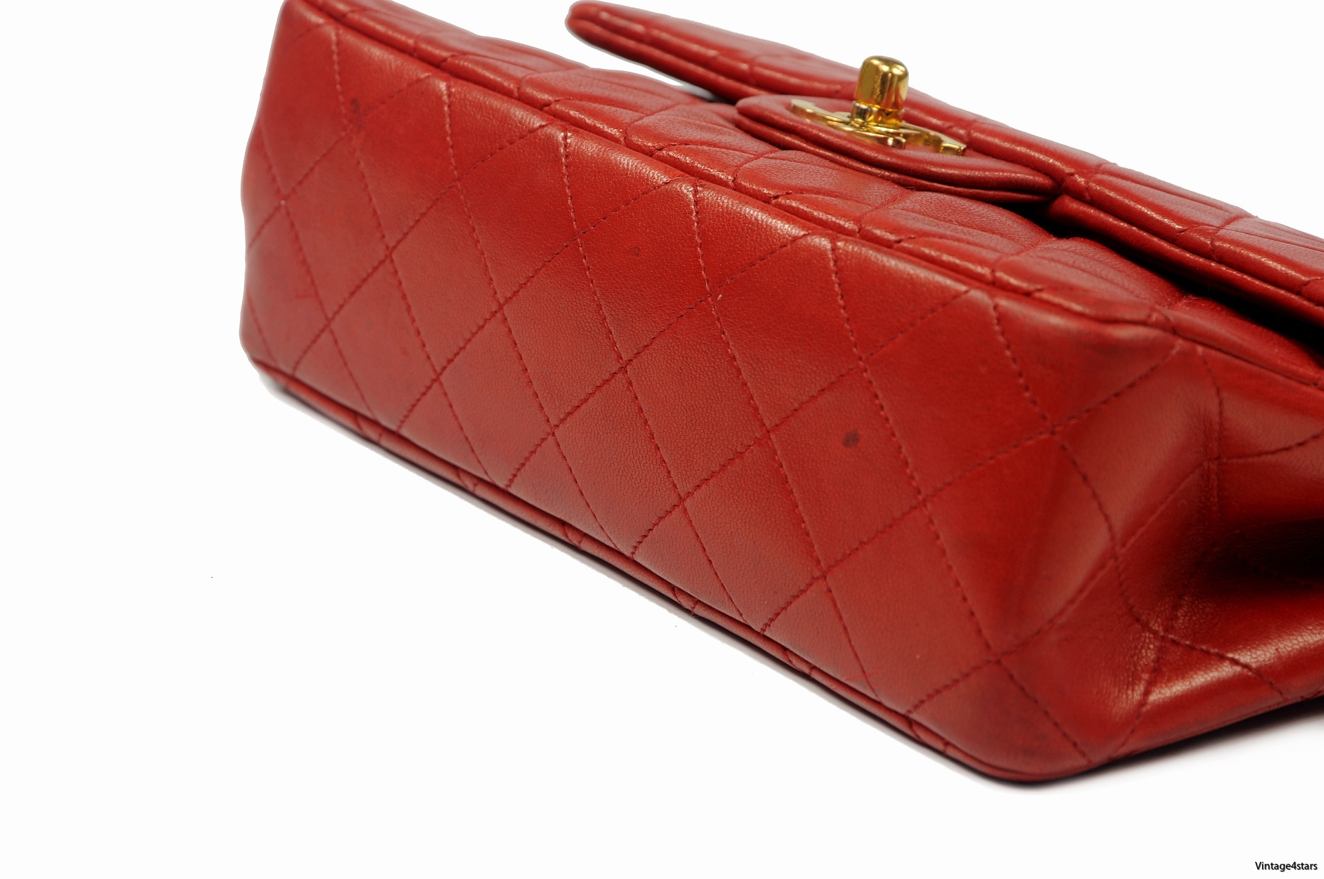 CHANEL Double Flap red 7