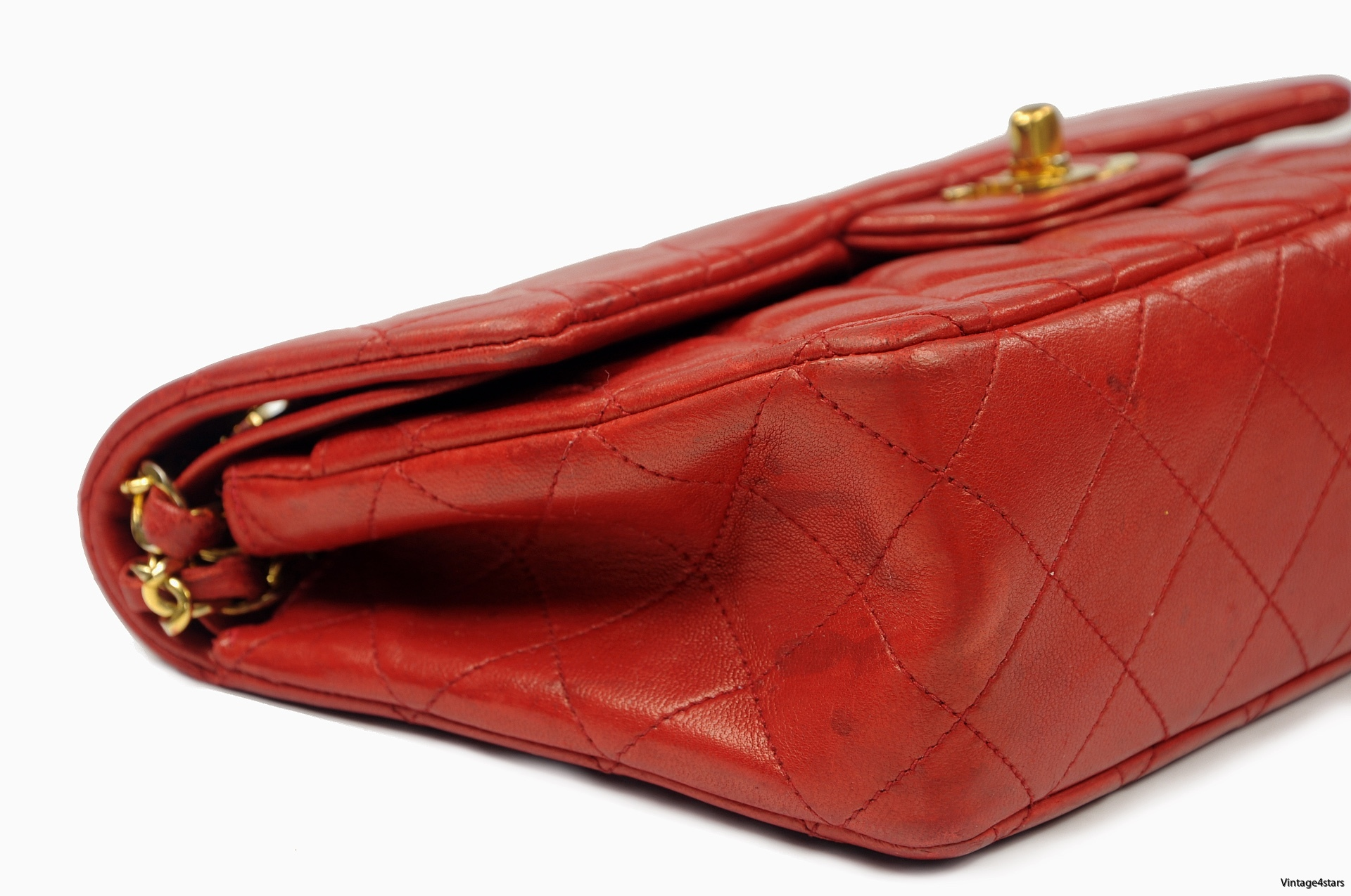 CHANEL Double Flap red 4