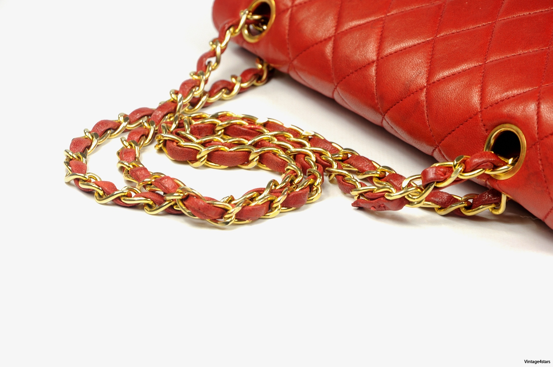 CHANEL Double Flap red 11