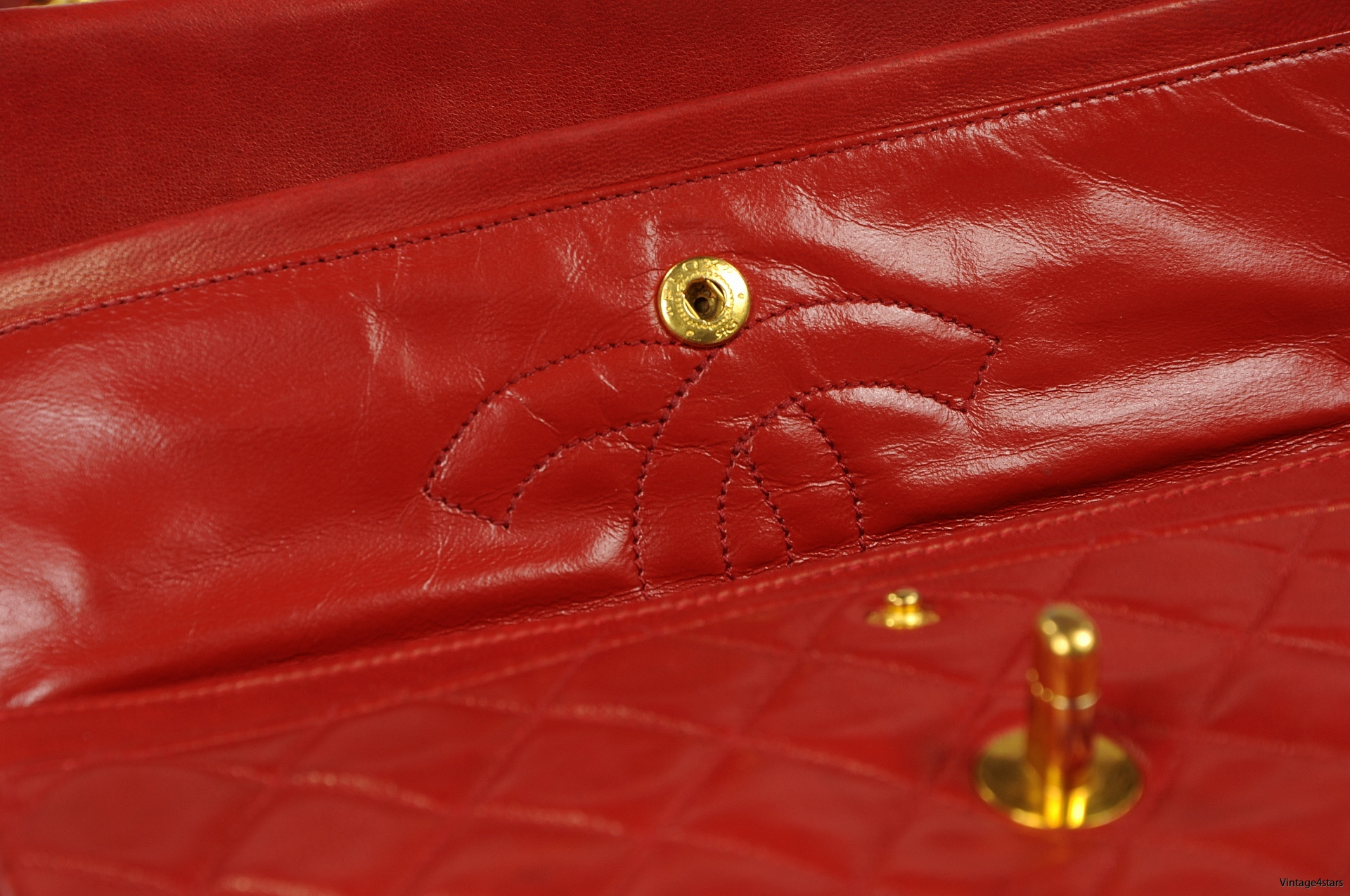 CHANEL Double Flap red 16