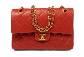 CHANEL Double Flap Red