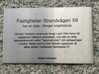 Legationen på Strandvägen 59. Foto Mats Wallenius