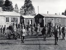 """Utbildningen av """"polissoldater"""" var en täckmantel för infanterisoldater. Foto från utställing på Mälsåkers slott"""