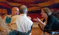 Konferens på Voksenåsen, vid detta tillfälle med Norges forskningsråd. Foto Voksenåsen
