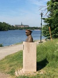 Byst av Folke Bernadotte. Foto Mats Wallenius