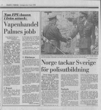 Dagens Nyheter den 15 juni 1983.