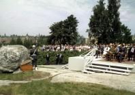 Ceremonin den 14 juni ägde rum en varm försommardag. Foto Erling Eikli.
