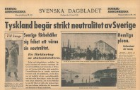 Svenska Dagblasdet den 10 april 1940.