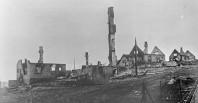 Byn Kirkenes var en av många byar i Nordnorge som blev totalförstörd av tyska armén vid deras återtåg från Sovjet. Bild Norska riksarkivet.