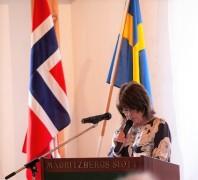 Mauritzbergs slottsägare Liisa Lipsanen öppnde seminariet.