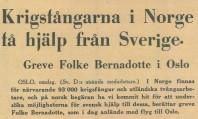 Utdrag från artikel i Svenska Dagbladet den 17 maj 1945.