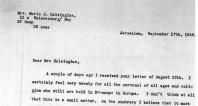 Utdrag ur brevväxlingen mellan Maria J. Helsingius och greve Folke Bernadotte.