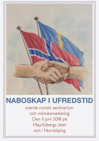 """Illustrationen med de två händerna användes av """"Grenseforeningen"""" mellan Kongsvinger och Charlottenberg. Den existerade 1947 – 1977 och bestod av personer som hjälpte folk att fly från Norge till Sverige under krigsåren. Konstnären okänd."""