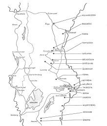 Karta över den geografiska placeringen av lägren för polistrupperna.