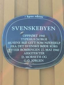 Minnesskylt i Bodö.