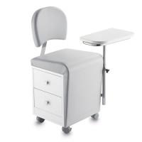 Manikür/Pedikür Stuhl mit Rädern - Made in Italy