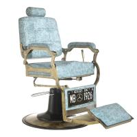 Barber Chair Boss Marmor Blau
