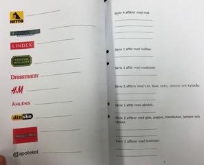 """Mittuppslaget i elevens arbetshäfte """"Vad heter affären?"""""""
