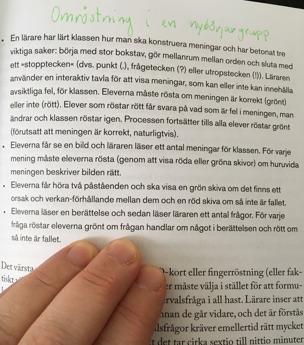 Ur: Handbok för formativ bedömning (Dylan Wiliam, s. 105)