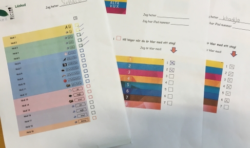 Blanketter för egen planering i Alfavux och Läskod