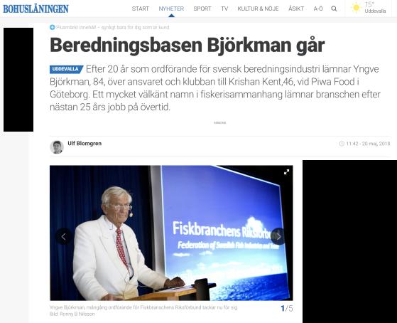 Ur Bohusläningen 21 maj 2018