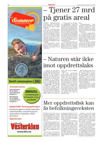 Bladet Vesterålen 29 maj 2018 (klicka för att förstora)