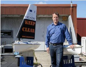 Med et ekkolodd om bord, skal seilbøyen kunne sendes ut mens fiskebåtene ligger igjen i havna. David Peddie, daglig leder i Offshore Sensing. FOTO: OFFSHORE SENSING
