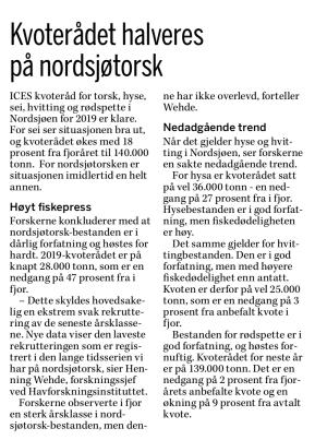 Ur Fiskeribladet Fiskaren 2 juli 2018.