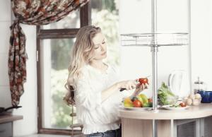 Kvinnorna blir gladast av nyttig mat. Foto: Colourbox