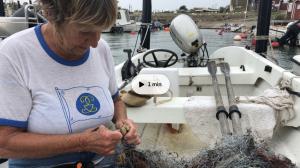 Gittan Larsson, hobbyfiskare. Foto: SVT. Klicka på bilden för att komma till intervjun!