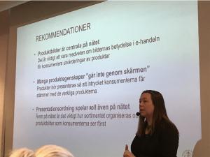 Hanna Berg forskar om visuell marknadsföring. Foto: Joachim Björk
