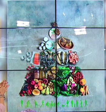 Matpyramiden som över tre miljoner studier pekar på. Bild: TV4. Klicka på bilden för att förstora den.
