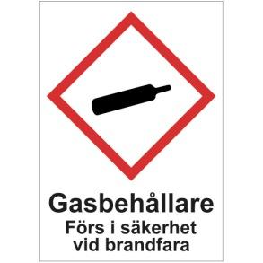 Varning Gasflaskor - Varning Gasflaskor A5 plast