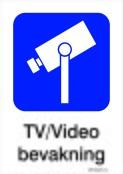 TV-Videobevakning skylt
