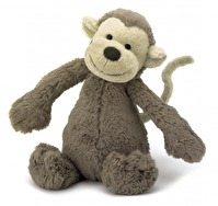 Little Jellycat Bashful Monkey