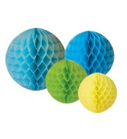 Honeycombs Blå